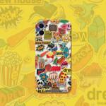 Full screen drew logo iPhone Case
