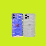 Gradient wave pattern iPhone Case