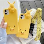 Pikachu Cartoon Lanyard iPhone Case