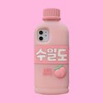 Korean Peach Drink Bottle iPhone Case
