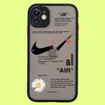 OW X SWOOSH BROKEN HOOK iPhone Case
