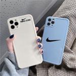 Pure Color Swoosh Hook iPhone Case