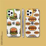 Fashion Full Burger/Hotdog Transparent iPhone Case