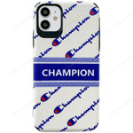 Blue and White Dermatology Champion iPhone Case