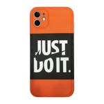 Orange Just Do it iPhone Case