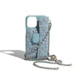 Luxury Blue Classic Chain Bag iPhone Case