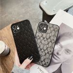 Coach Black Style Leather iPhone Case