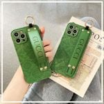 Retro Green iPhone Case With Wrist Band