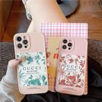 Luxury Pink GG Flower Pattern iPhone Case