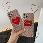 Luxury Embroidery Love GG Letters iPhone Case