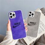 Simple Colorful Leather Swoosh iPhone Case