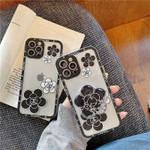 Simple Luxury CC Flower Bracket iPhone Case
