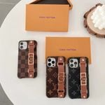 Luxury classic LV leather Wristband iPhone case