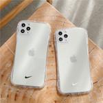 Transparent Swoosh Soap Shape iPhone Case
