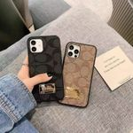 Luxury Classic CH Flower Leather iPhone Case
