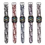 Luxury Retro CD Leather Apple Watch Band