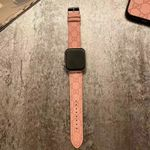 Luxury LV Flower Pattern Lether Apple Watch Band