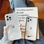 Simple Black and White Swoosh iPhone Case