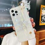 Luxury Aurora Wave Pattern CC/CD/Y Wristband iPhone Case