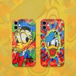 Cartoon Duck Doodle iPhone Case