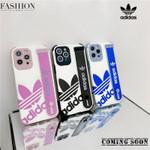 Fashion Slant AD Logo Lanyard iPhone Case