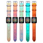 Luxury L laser leather Apple Watch Band