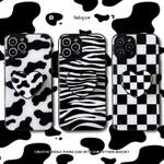 Black and White Leopard Bracket iPhone Case