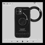 Transparent Black CD Record iPhone Case