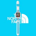 Fresh Blue TNF Apple Watch Band