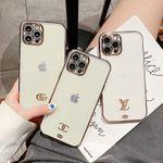 Fashion Electroplating Logo iPhone Case