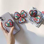 Creative Strawberry Heart Phone Grip