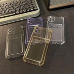 Multi-color Transparent Card Cover iPhone Case
