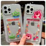 Cartoon Strawberry Bear Card Cover iPhone Case