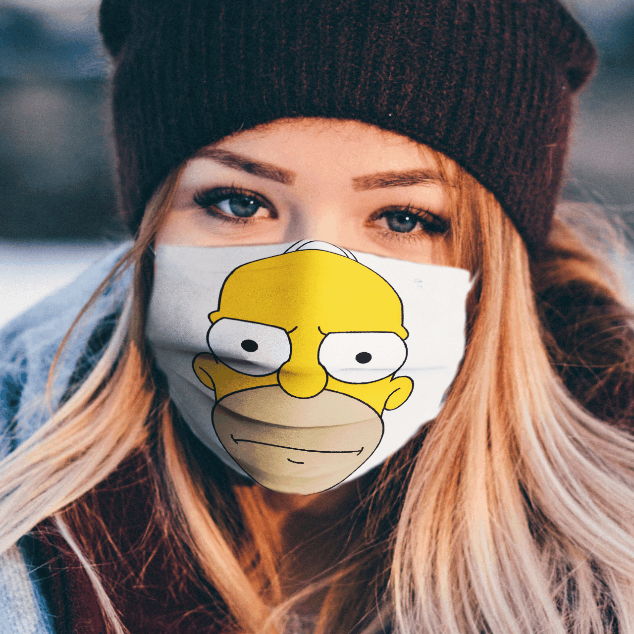 Simpsons Family 3D Cloth Face Mask