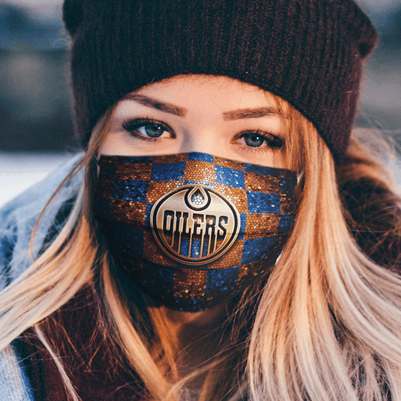 oilers face mask