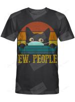 ew people black cat t shirt