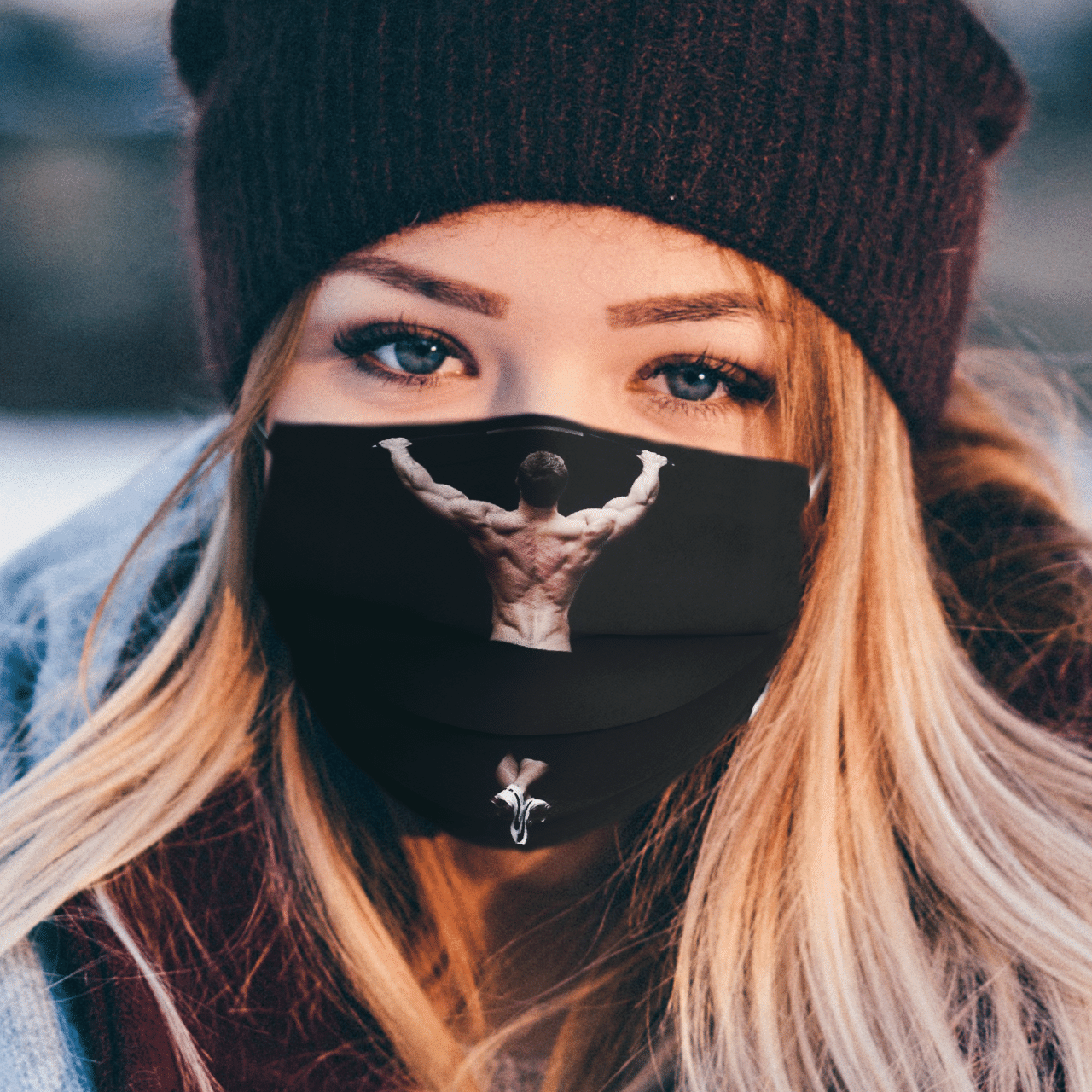 pull up face mask