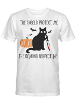 the angels protect me the demons respect me t shirt