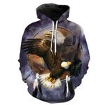 Native American Eagle 3d Hoodie