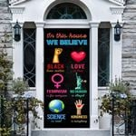 Family Believe Door Wallpaper