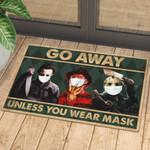 Horror Go Away Unless You Have Mask Doormat