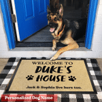 Personalized Welcome Dogs House Doormat