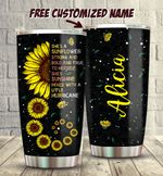 Sunflower Strong, Bold and True Tumbler