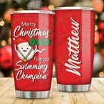 Swimming Champion Personalized Tumbler