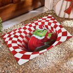 UK - Red Grinch Illusion Doormat