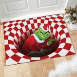 Red Grinch Illusion Doormat - Doormat