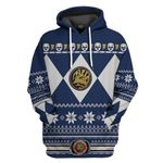 Blue Power Ranger Custom Ugly Sweater T-shirt Hoodie Apparel