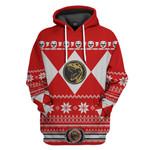 Red Power Ranger Custom Ugly Sweater T-shirt Hoodie Apparel