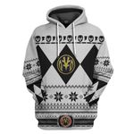 White Power Ranger Custom Ugly Sweater T-shirt Hoodie Apparel