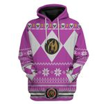 Pink Power Ranger Custom Ugly Sweater T-shirt Hoodie Apparel